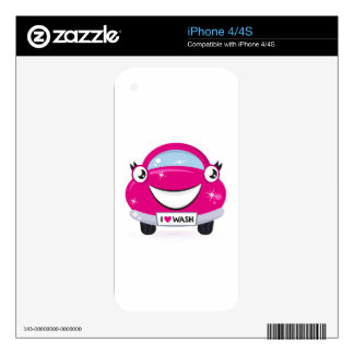 ARTISTIC DESIGNERS TSHIRT WITH PINK CAR SKIN FOR THE iPhone 4