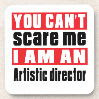 Artistic director scare designs drink coaster