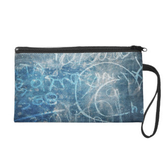 Artistic Doodle Drawing - Abstract Sketch Art Wristlet Purse