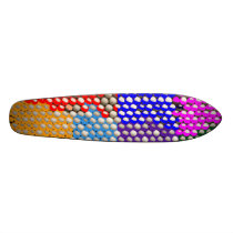 Artistic DOT  Matrix Pattern Skateboard Deck