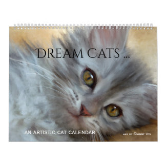 Artistic Dream Cat Large Calendar
