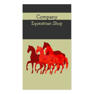 Artistic Easy   Custom  Watercolor Magic  Horses Business Card
