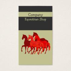 Artistic Easy   Custom  Watercolor Magic  Horses Business Card at Zazzle