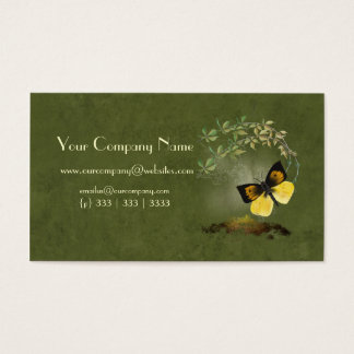 Artistic, Elegant- Painted Butterfly- Business Car Business Card