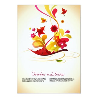 artistic elements in autumn colors 5x7 paper invitation card
