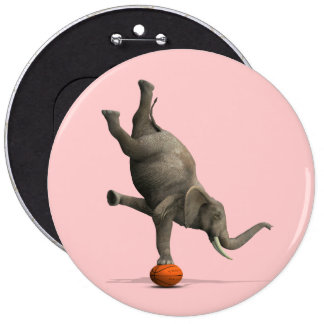 Artistic Elephant Button