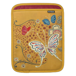 Artistic Fantasy Butterflies Sleeve For iPads