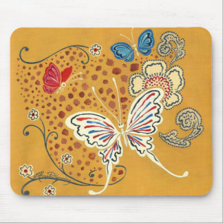 Artistic Fantasy Butterflies Mouse Pad