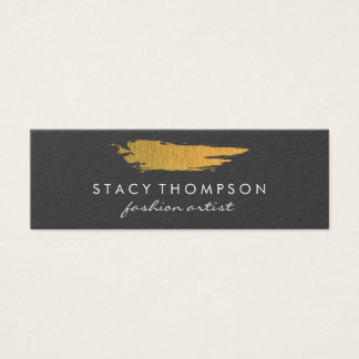 Artistic Faux Gold Brushed Pattern Mini Business Card