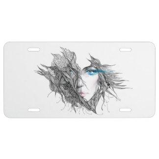 Artistic Female Face License Plate