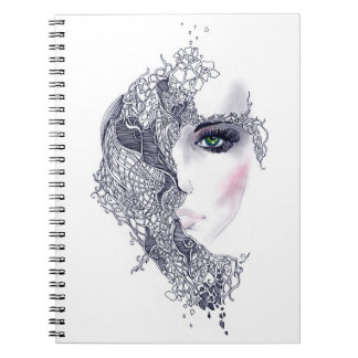 Artistic Female Head Notebook