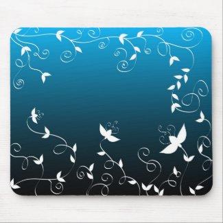 Artistic floral design mousepad