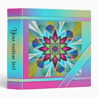 Artistic Floral Design Personal Organizer Binder