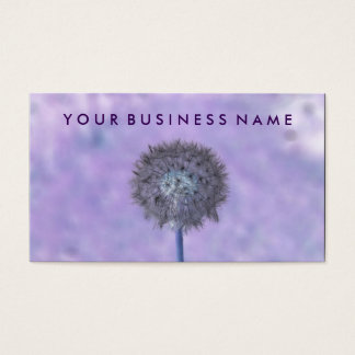 Artistic Floral Fluorescent Lilac Dandelion Purple Business Card