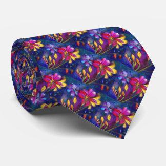 Artistic Floral Freesia flower tie