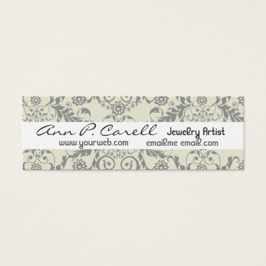 Artistic Floral Luxe Professional Elegant Modern Mini Business Card