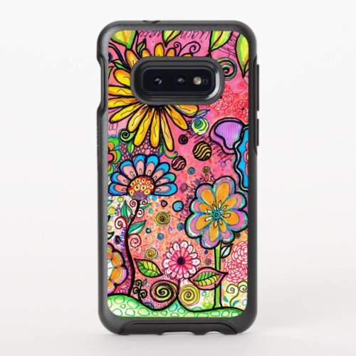 Artistic Flower Drawing Phone Case