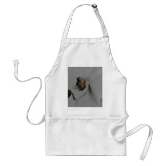 Artistic Flower in Grey Tones Adult Apron