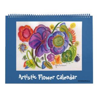Artistic Flowers Calendar