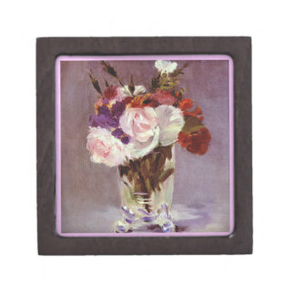 Artistic Flowers in a Crystal Vase Gift Box