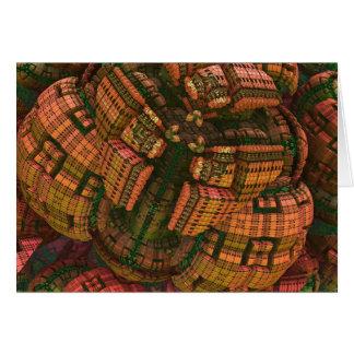 Artistic fractal 3d card