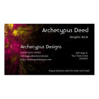 Artistic Fractal Business Card