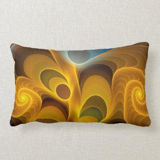 Artistic Fractal Spirals and Patterns Pillow