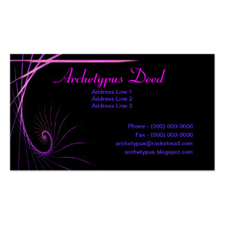 Artistic Fractal Stroke Double-Sided Standard Business Cards (Pack Of 100)