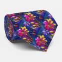 Artistic Freesia Floral Tie