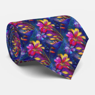 Artistic Freesia Floral Tie