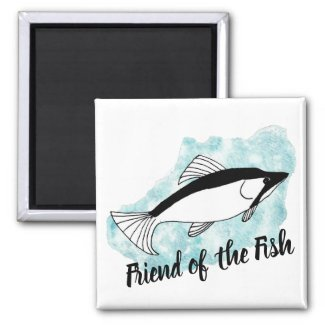 Artistic Friend of the Fish Magnet