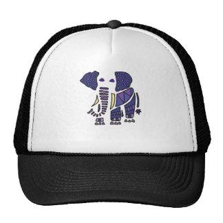 Artistic Fun Blue Elephant Abstract Art Trucker Hat