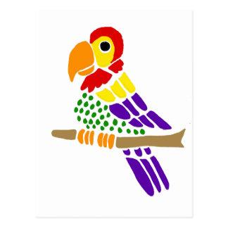 Artistic Fun Colorful Parrot Postcard