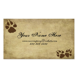 Artistic & Fun- Doggy Prints-  Business Card