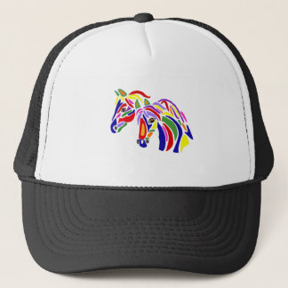 Artistic Fun Horses Abstract Trucker Hat