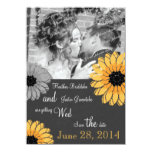 Artistic Garden Gray and Yellow Save the Date Invite