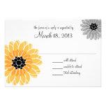 Artistic Garden Yellow and Gray Wedding Custom Invite