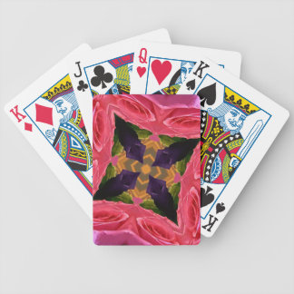 Artistic Geometrical Rose and Peach Color Design Bicycle Playing Cards