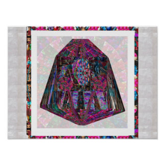 Artistic Gifts Crystal  Healing Color Pattern ART Poster