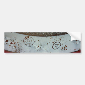 Artistic Glass Texture Car Bumper Sticker
