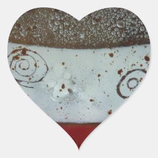 Artistic Glass Texture Heart Sticker