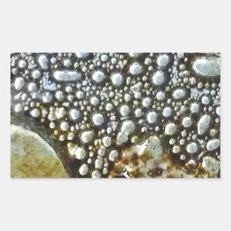 Artistic Glass Texture Rectangular Sticker