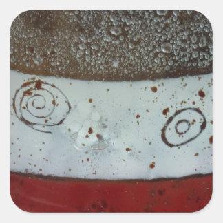 Artistic Glass Texture Square Sticker