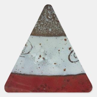 Artistic Glass Texture Triangle Sticker