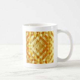 Artistic gold grid classic white coffee mug