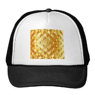 Artistic gold grid hat