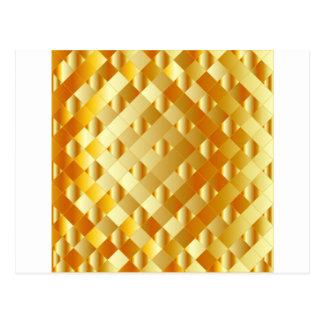 Artistic gold grid postcard