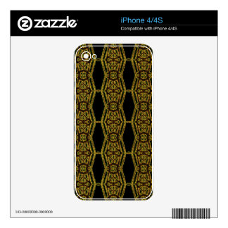Artistic Golden Masculine Pattern iPhone 4 Skins