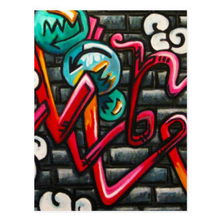 Artistic Graffiti Products Postcard