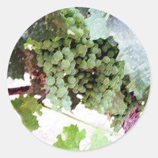 Artistic Grapes Classic Round Sticker